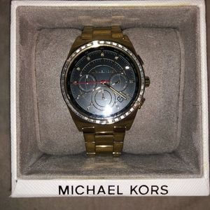 Gold Michael Kors Watch with Black Accents